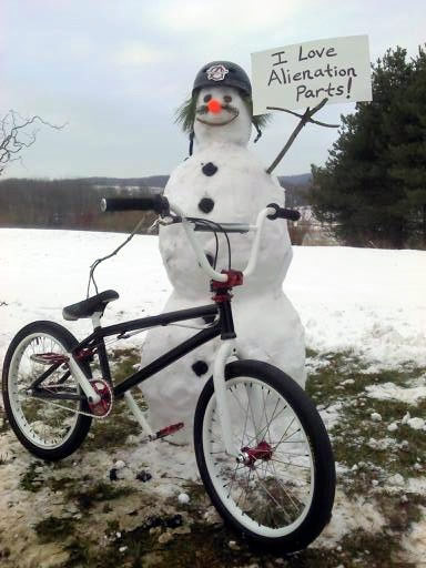 Alienation Bicycle Components 187 Snowman Contest Winner